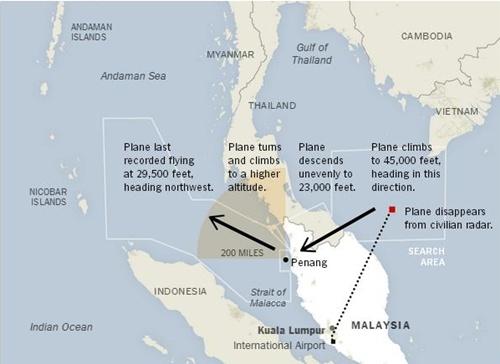 Malaysia điều tra khả năng MH370 bị tấn công