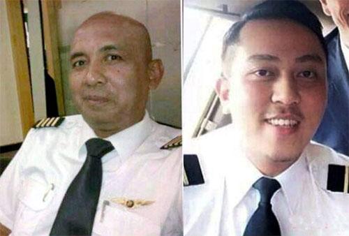 Cơ trưởng Zaharie Ahmad Shah, 53 tuổi (bên trái) và phi công phụ Fariq Abdul Hamid, 27 tuổi, của máy bay Malaysia mất tích. Ảnh: NST.