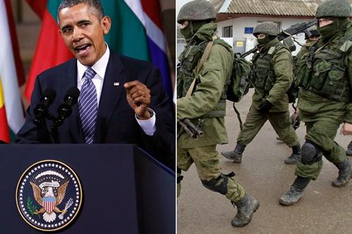 Obama yêu cầu Putin rút quân khỏi biên giới Ukraine