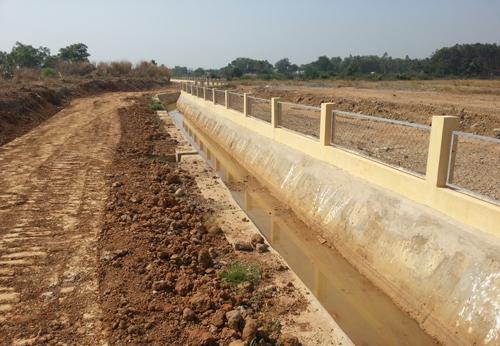 Khu vực phát hiện nhiễm dioxin ở sân bay Biên Hòa. Ảnh: K. Sơn.
