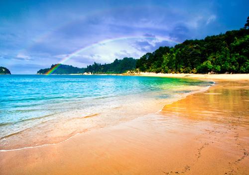 Beach-Rainbow-in-Abel-Tasman