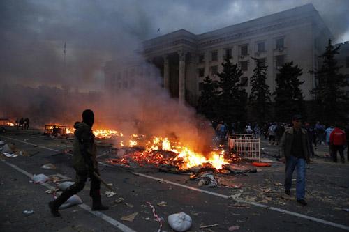Cảnh đổ nát ở Odessa hôm 2/5. Ảnh: Reuters