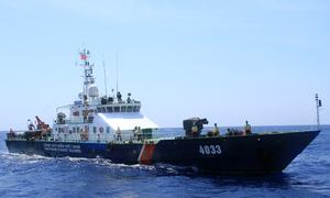 Hoạt động của chiến sĩ trên tàu cảnh sát biển