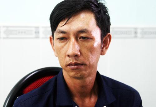 Trương Văn Huệ tại cơ quan công an. Ảnh: An Nhơn