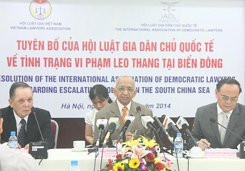Hội Luật gia dân chủ quốc tế sát cánh cùng Việt Nam nếu kiện Trung Quốc