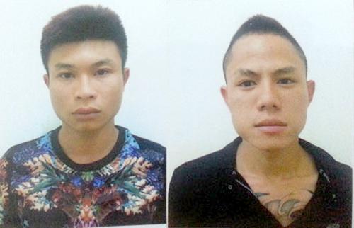 2 đối tượng Mai và Ngọc bị bắt giữ.Ảnh: Sơn Dương