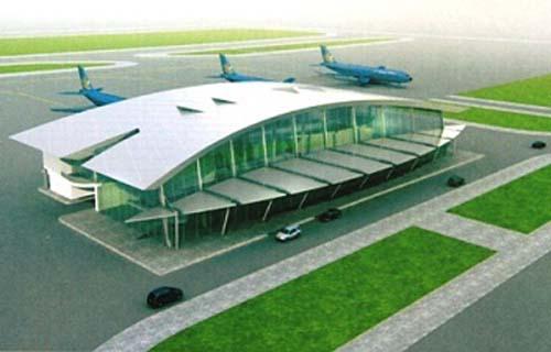 Mô hình nhà ga sân bay Thọ Xuân.