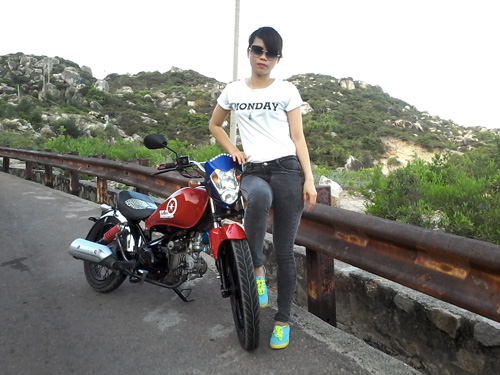 Harley-Davidson tự chế của thợ gò bồi Bình Định