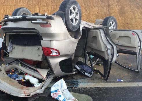 Lái xe ngủ gật nên gây tai nạn khiến 4 người bị thương trên cao tốc