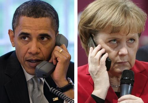 Tổng thống Mỹ Barack Obama (trái) và Thủ tướng Đức Angela Merkel. Ảnh:http://grahamcluley.com/.