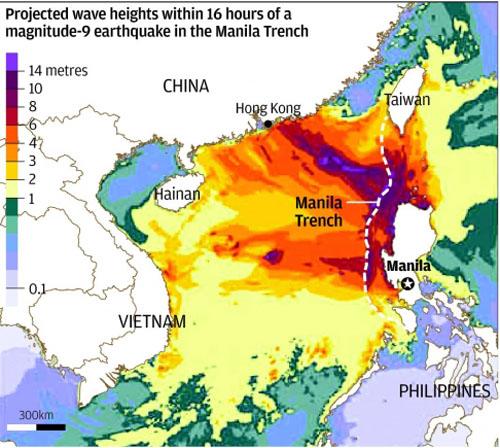 Cảnh báo nguy cơ động đất, sóng thần trên Biển Đông