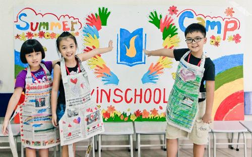 Học sinh học môn tiếng Anh tại Vinschool được tiếp cận từ nhiều hướng.