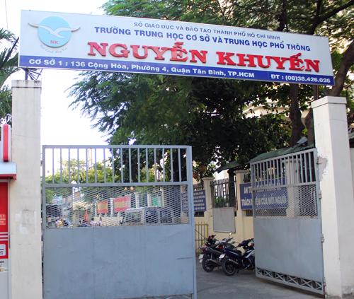 Trường THPT Nguyễn Khuyến dẫn đầu TP HCM về lượng học sinh đỗ thru khoa, á khoa đại học. Ảnh: Duy Trần.