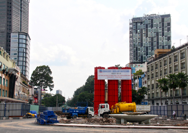 Đại công trường Metro trung tâm Sài Gòn