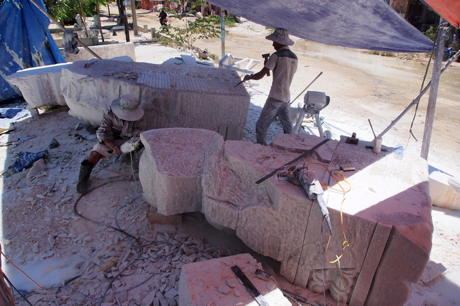 làng nghề đá mỹ nghệ