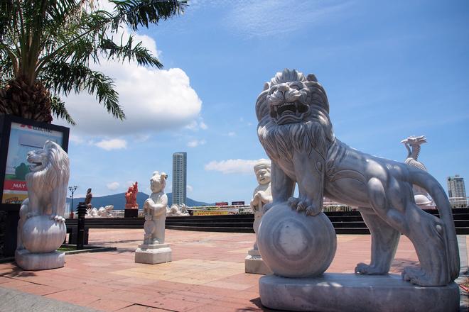 sư tử đá mỹ nghệ non nước