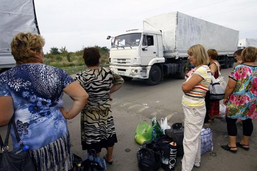 Toàn bộ đoàn xe viện trợ Nga ra khỏi lãnh thổ Ukraine