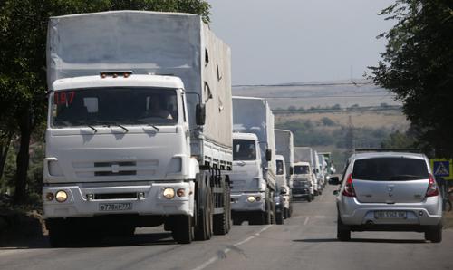 Mỹ đòi Nga rút đoàn xe viện trợ về nước