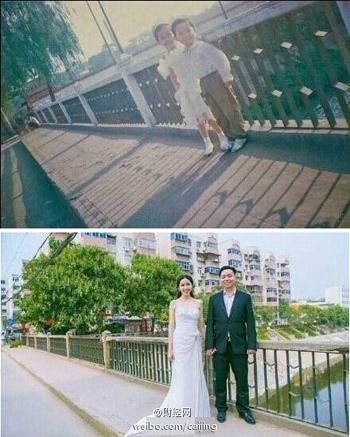 Chàng trai cưới cô hàng xóm sau 18 năm nhung nhớ