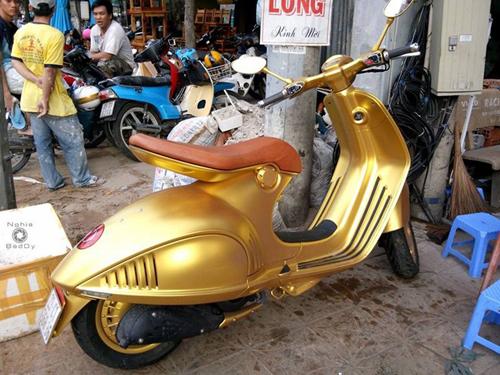 1 4965 1410945414 Xe tay ga đắt nhất Việt Nam được mạ vàng