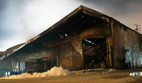 Công ty mực in của Nhật thành tro sau 11 tiếng hỏa hoạn