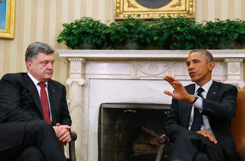 Obama lên án Nga trong cuộc gặp với tổng thống Ukraine