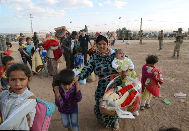Thảm cảnh của người Syria chạy loạn