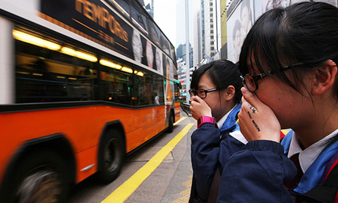 Không khí Hong Kong sạch hơn trong những ngày biểu tình