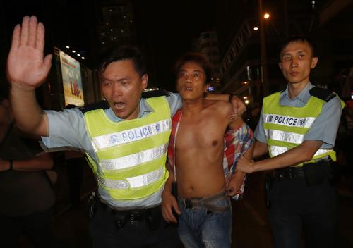 'Hội tam hoàng' bị nghi gây ẩu đả trong biểu tình Hong Kong