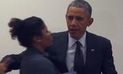 Chàng trai vô cớ ghen tuông với Obama