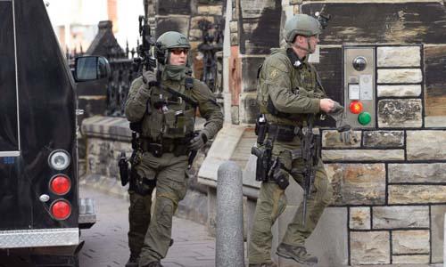 Toà nhà quốc hội Canada bị nã đạn, Thủ tướng sơ tán