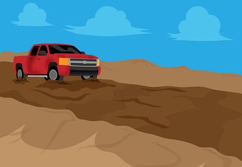 Kỹ năng lái xe qua đường bùn lầy
