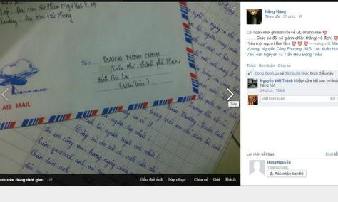 Nữ sinh gửi thư tỏ tình say đắm ngôi sao U19 Văn Toàn