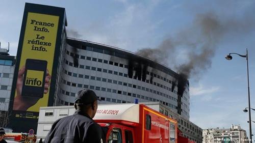Đài phát thanh quốc gia Pháp bốc cháy