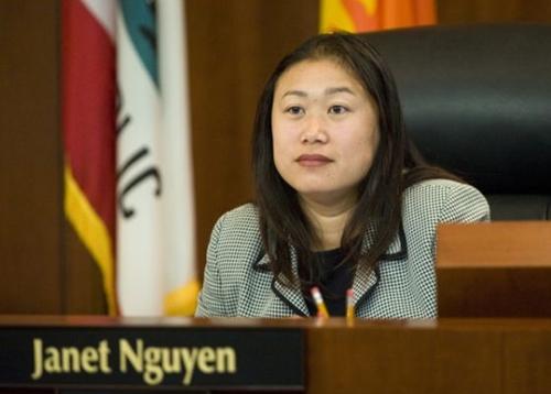 Bà Janet Nguyen, người vừa được bầu vào thượng viện tiểu bang California. Ảnh: Orange County Register.