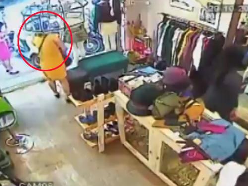 5 5044 1415340634 Người đẹp nhanh tay trộm iPhone 6 Plus trong shop Hà Nội