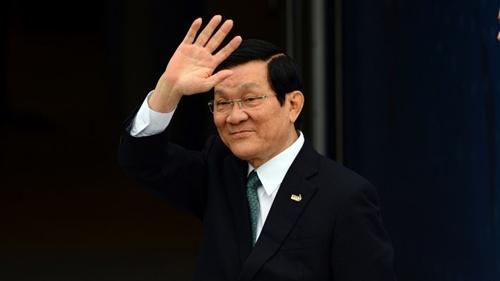 [Caption]Chủ tịch nước Trương Tấn Sang. Ảnh:AFP