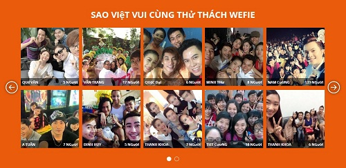 Hinh minh hoa Sao Viet tham gi 4007 2100 1416452858 Gần 1.300 bức ảnh tham gia Thử thách Wefie