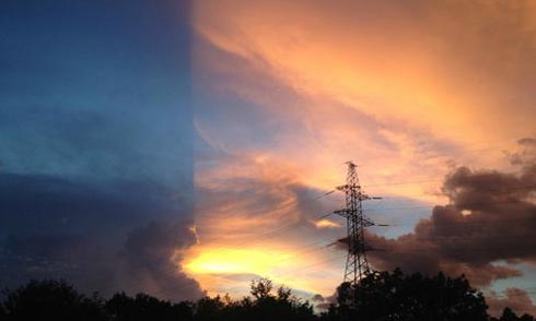 Bầu trời chia thành hai mảnh ở Bình Phước