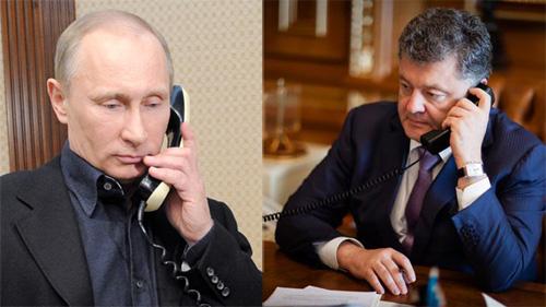 Putin điện đàm với tổng thống Ukraine