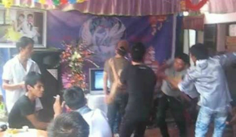 Thanh niên hai họ ẩu đả tại đám cưới vì tranh nhau hát
