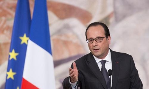Tổng thống Pháp Francois Hollande. Ảnh: EPA