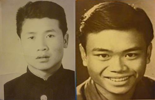 Bức ảnh ông Lưu Thái (trái) và ôngPhạm Tình (hoặcPhạm Tĩnh, Phạm Tính) tặng ôngXasa Tusakov. Ảnh:Thanh Phương