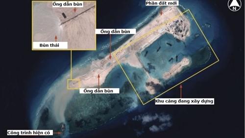 Ảnh mới về hoạt động cải tạo của Trung Quốc tại bãi Chữ Thập | tin nong nhat