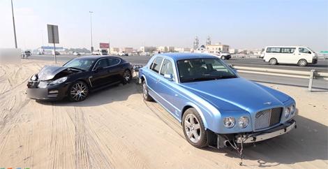 Bentley Arnage tan nát vì Porsche Panamera