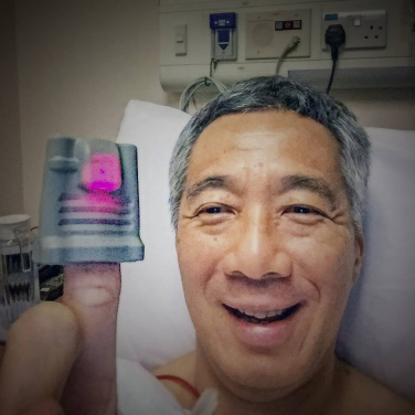 A photo taken of Prime Minister Lee Hsien Loong in January 2015 at the Singapore General Hospital after he woke up from the prostate biopsy, the procedure that detected his prostate cancer. - See more at: http://news.asiaone.com/news/singapore/pm-lee-undergo-surgery-prostate-cancer#sthash.0RFmc7FC.dpuf