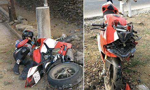 Nhân chứng vụ tay lái môtô tử nạn: '4-5 xe tông vào nhau, bay loạn xạ'