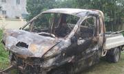 Xe bán tải bốc cháy, một người chết