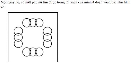 """Bài toán """"nối vòng bạc của phụ nữ"""""""