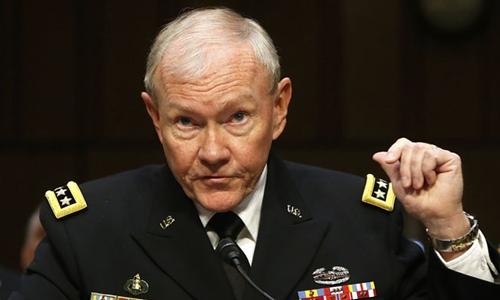 Chủ tịch Hội đồng Tham mưu trưởng Liên quân Mỹ Martin Dempsey. Ảnh: Reuters.